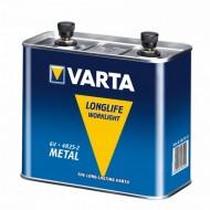 Pile pour projecteur 4R25/2 acier Varta
