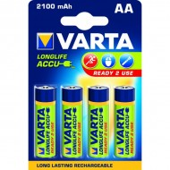 Piles rondes rechargeables HR06 AA Varta