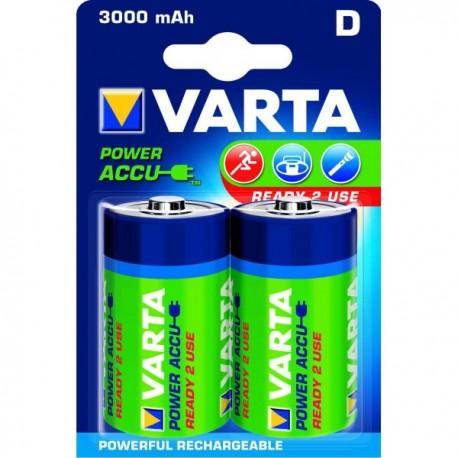 Piles rondes rechargeables HR20 D Varta