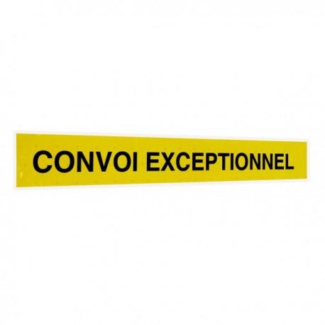 """Bandeau autocollant """"Convoi exceptionnel"""""""