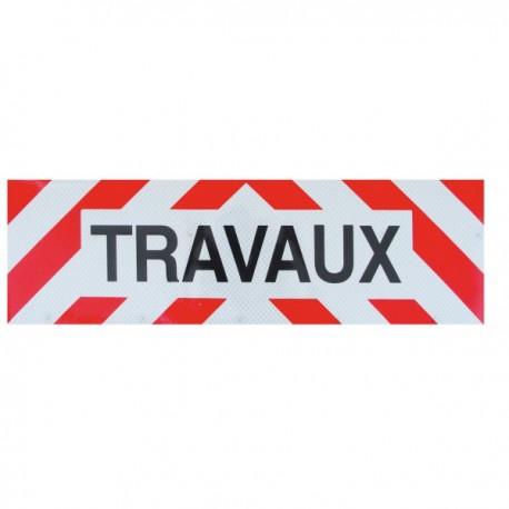 """Plaque autocollante """"Travaux"""""""