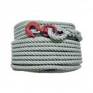 Corde à poulie chanvre avec crochet Forges de Magne