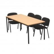 Table de réunion de chantier rectangulaire