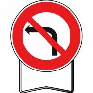 Panneau BK2a Interdiction de tourner à gauche