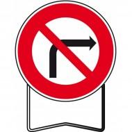Panneau BK2b Interdiction de tourner à droite