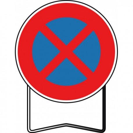 Panneau BK6d Interdiction de stationner et de s'arrêter