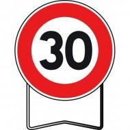 Panneau BK14 30 Km/h