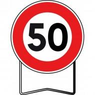 Panneau BK14 50 Km/h