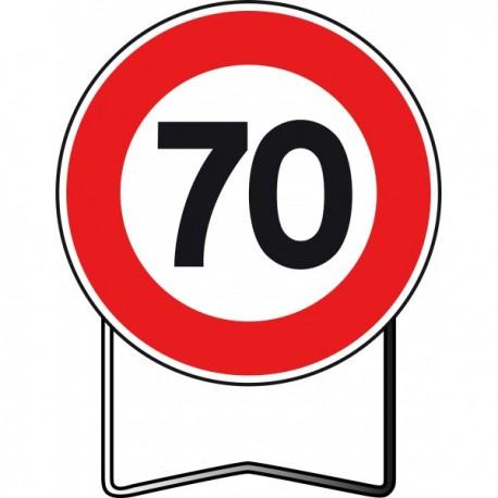 Panneau BK14 70 Km/h