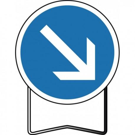 Panneau BK21 Sens obligatoire