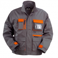 Veste de travail grise/orange, coton-poly