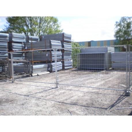 Portail v hicule grillag 7m x 2m reservoir tp for Portail 2m de large