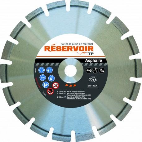Disque Asphalte Pro Réservoir Tp, alésage 20mm, diamètre 300mm