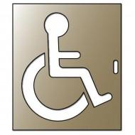 Pochoir handicapé Zinc 700x600mm