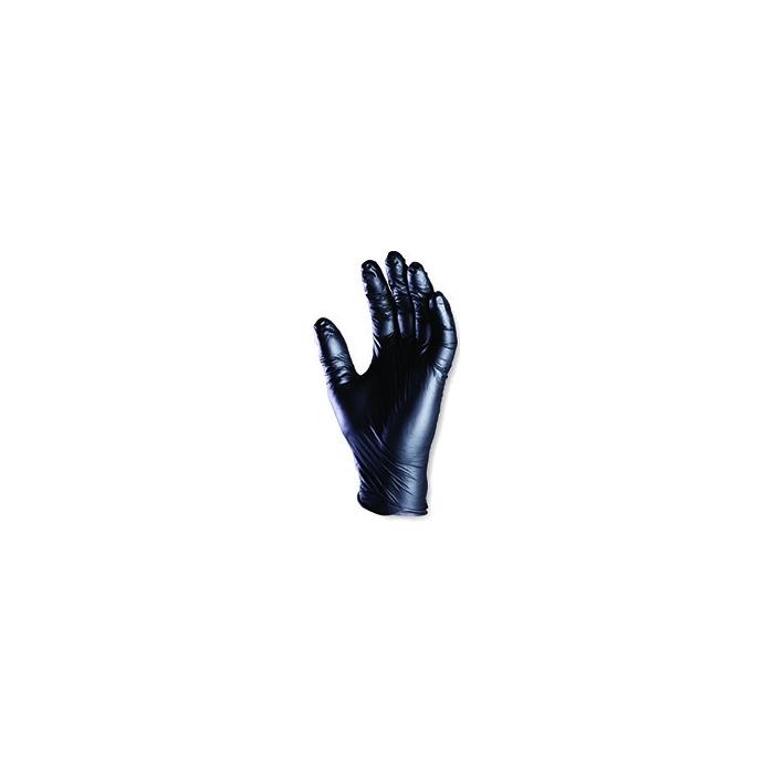 Lot de 100 gants nitrile noir jetables
