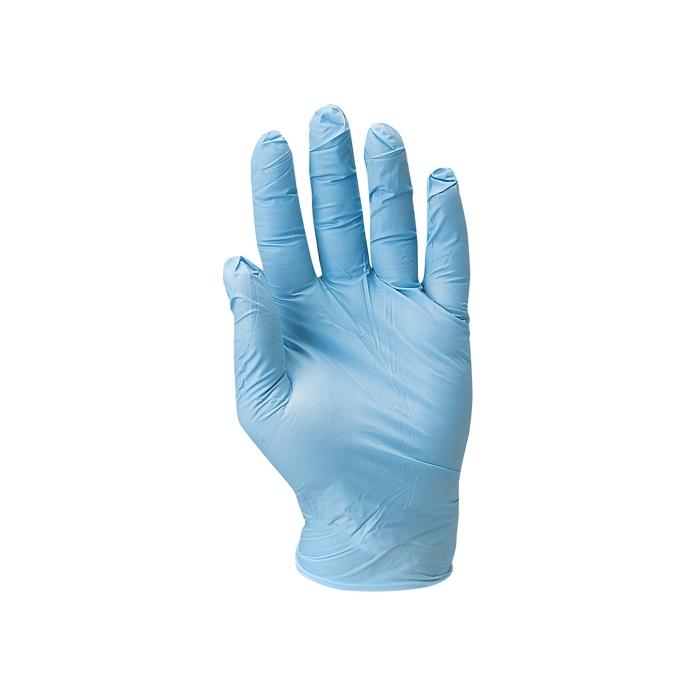 Lot de 100 gants nitrile bleu jetables