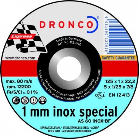 Disque à tronçonner Inox Dronco