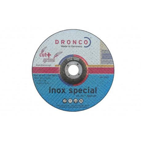 Disque à tronçonner Inox Dronco, diamètre 180mm, épaisseur 3.5mm