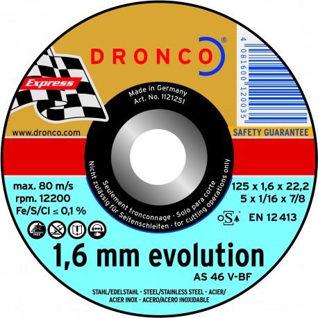 Disque à tronçonner Acier Pro Dronco, diamètre 125mm