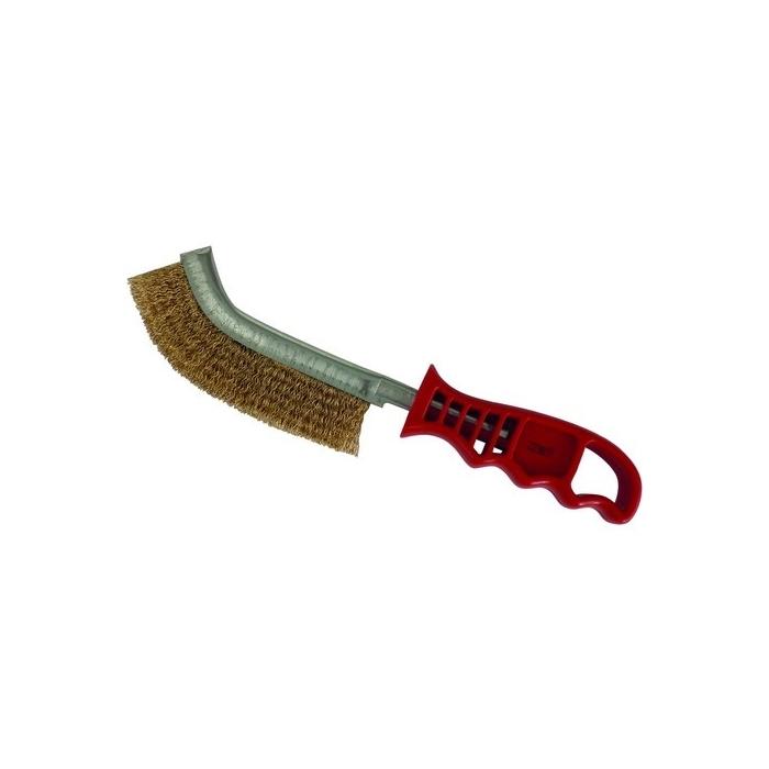 Brosse métallique à manche convexe