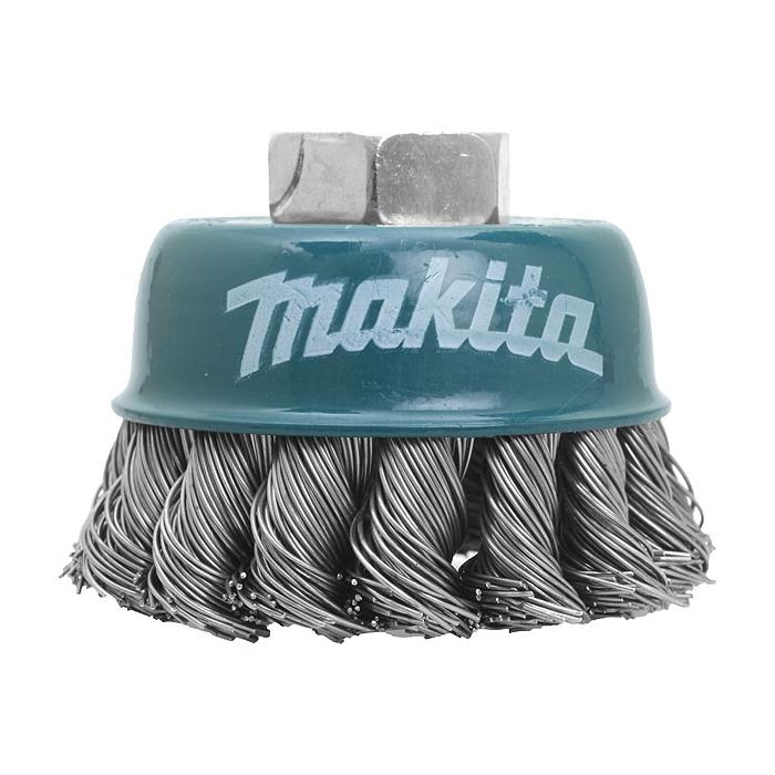 Brosse boisseau à fils torsadés pour meuleuses d'angle 125mm Makita