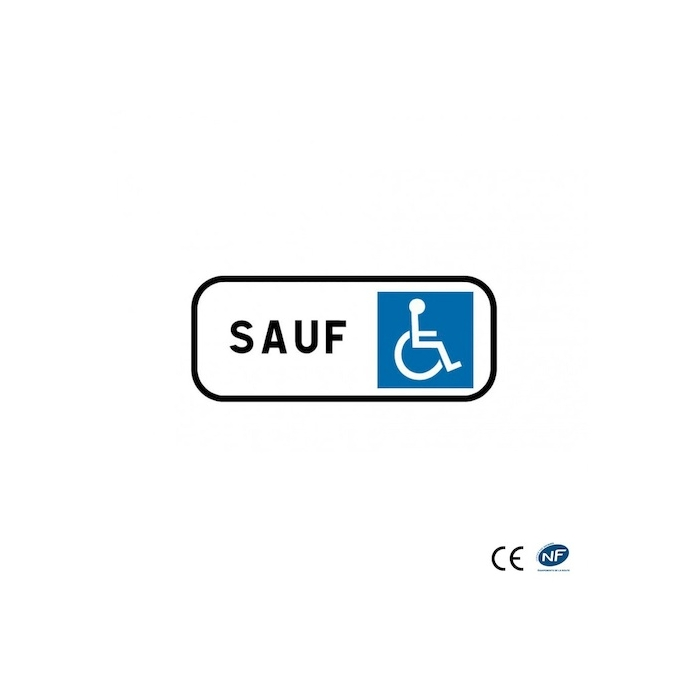 Panonceau M6h stationnement réservé handicapé