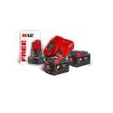Pack Milwaukee NRJ 18V, 9,0 Ah Red Lithium, système M18 + offert 1 Batterie M12 4,0 Ah