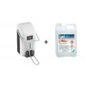Distributeur Gel hydroalcoolique + 1 bidon de 5 litres