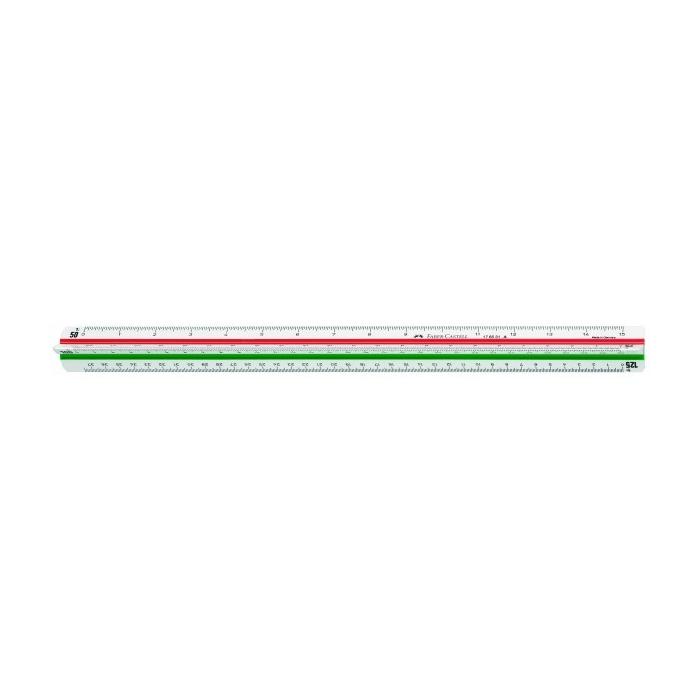 Règle à échelle triangulaire Faber Castell échelle 20/125