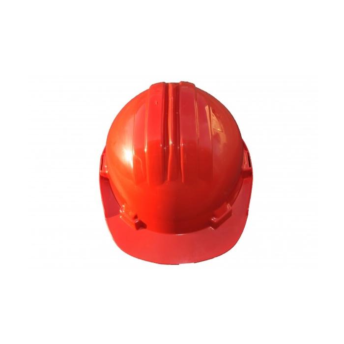 Casque de chantier couleur rouge