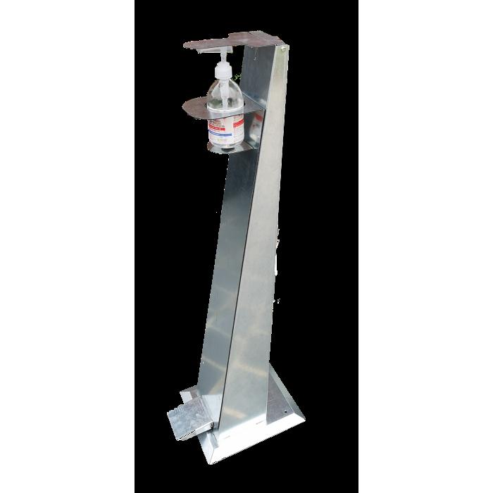 Distributeur gel hydro-alcoolique sans contact en acier galvanisé