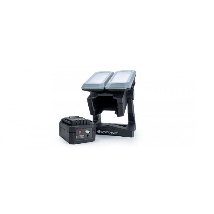 Projecteur rechargeable 2 têtes 4600lm Suprabeam W6r