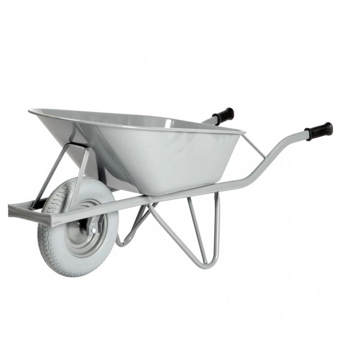 Brouette Basic Wheel 80L caisse arrondie avec roue increvable