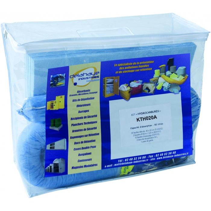 Kit anti-pollution 20L pour hydrocarbures