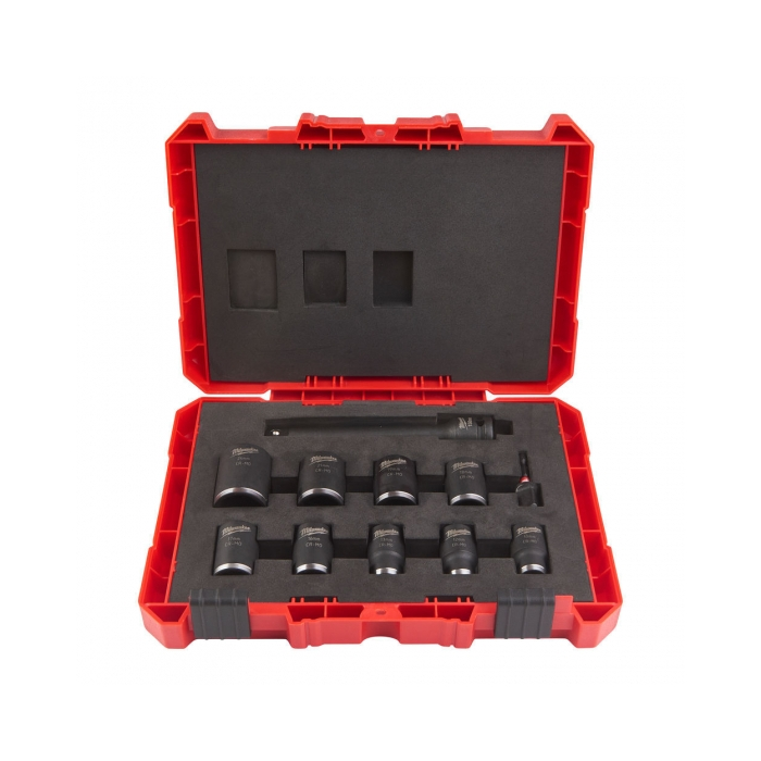 "Coffret Milwaukee 11 douilles 1/2"" Shockwave Impact Duty courtes"
