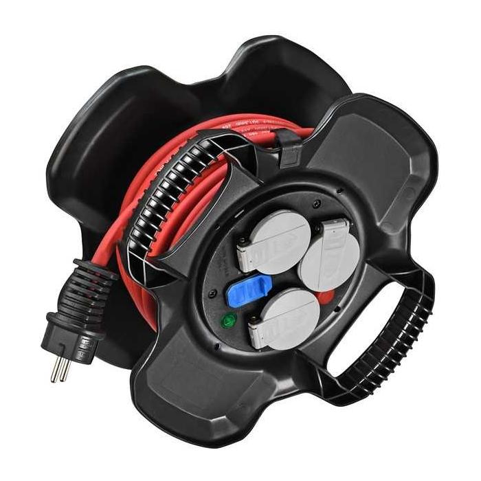 Enrouleur de câble X-GUM avec 3 prises clapets et 2 prises USB