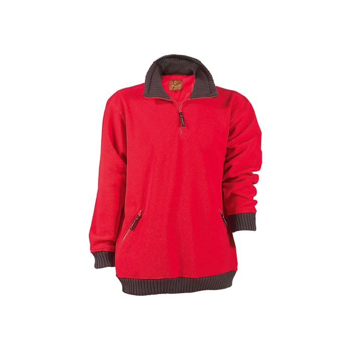 Pull de travail polaire 100% polyester couleur rouge taille XXL