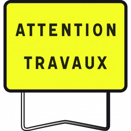 "Panneau KC1 ""Attention travaux"""