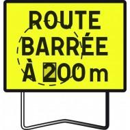 """Panneau KC1 """"Route barrée"""", avec disque de distance modulable"""