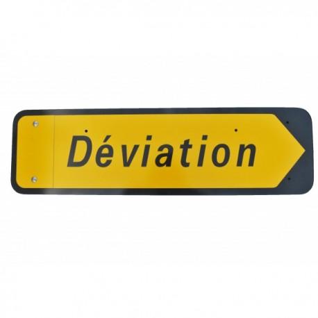 """Panneau KD22a """"Déviation"""" sur pied"""