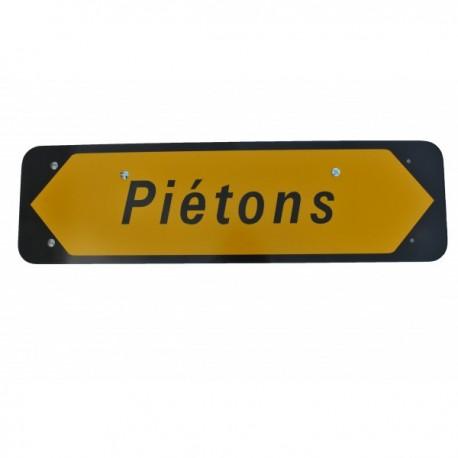 """Panneau KD22a """"Piétons"""" sur pied"""