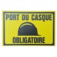 """Plaque Akylux """"Port du casque obligatoire"""""""