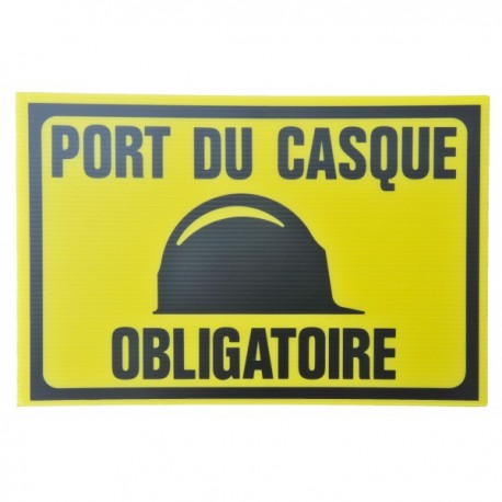plaque pvc alv ol port du casque obligatoire reservoir tp. Black Bedroom Furniture Sets. Home Design Ideas