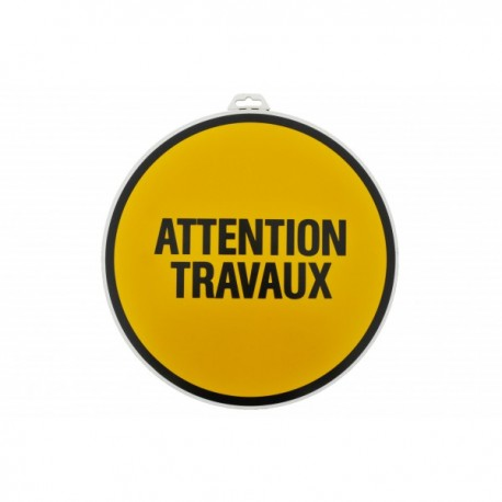"Plaque ""Attention travaux"""