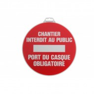 "Plaque ""Chantier interdit au public"""