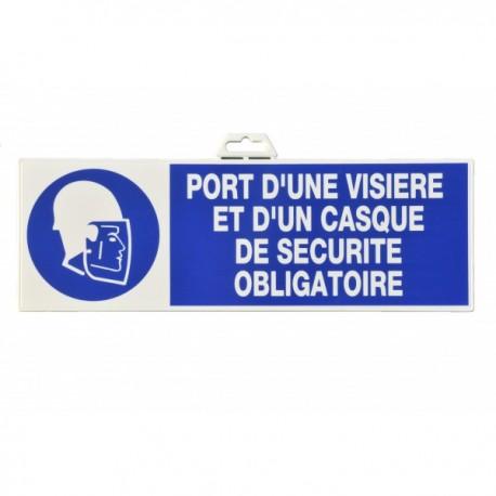 """Plaque signalétique """"Port de visière"""""""