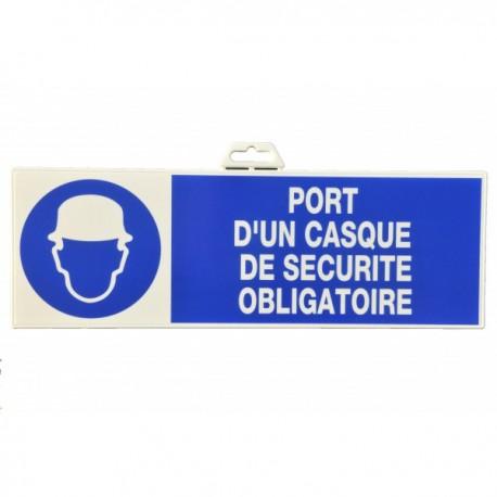 "Plaque signalétique ""Port de casque"""