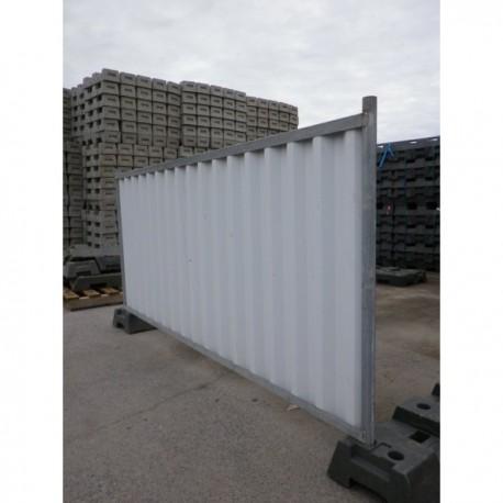 Panneau mobile de chantier blanc