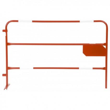Barrière de chantier avec plaque