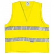 Gilet haute visibilité fluo bandes ceinture